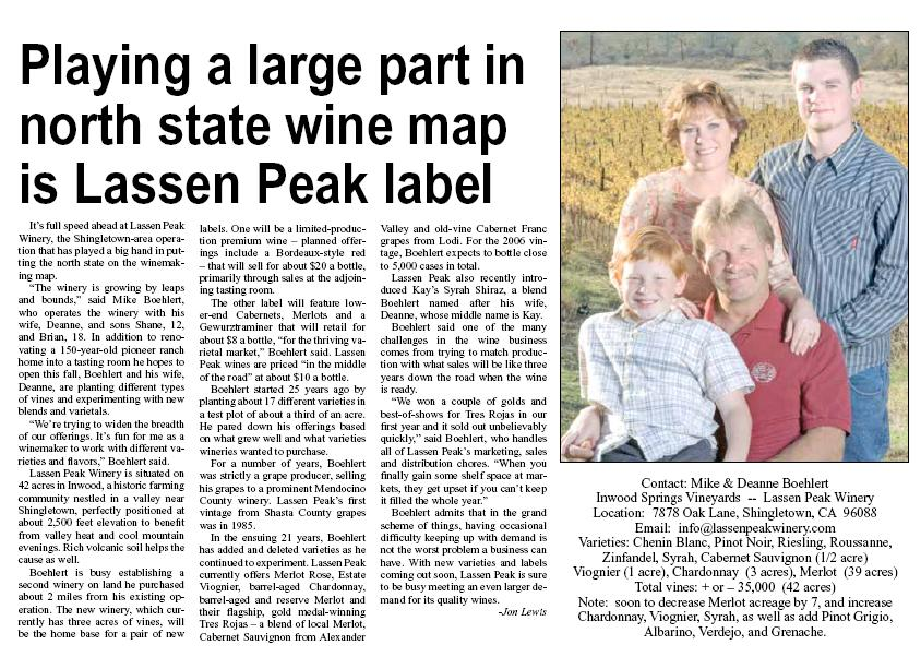 Lassen Peak Winery